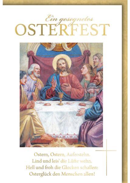 Osterkarte christlich Abendmahl
