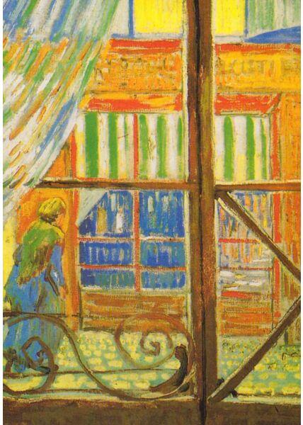 Kunstkarte Vincent van Gogh - Metzgerei, durch ein Fenster gesehen
