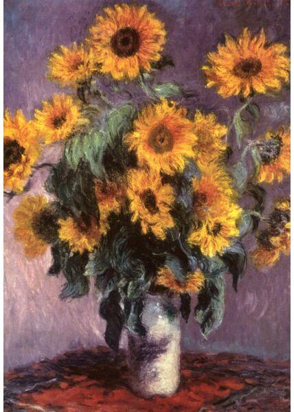 Kunst Postkarte Claude Monet (1840-1926), Bouquet of Sunflowers, Stillleben mit Sonnenblumen, 1880