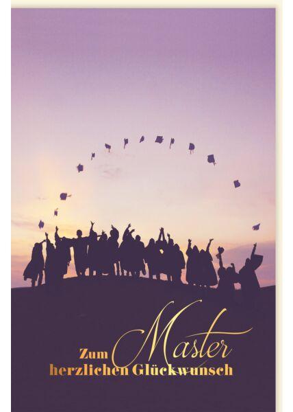 Glückwunschkarte zur Prüfung Zum Master herzlichen Glückwunsch