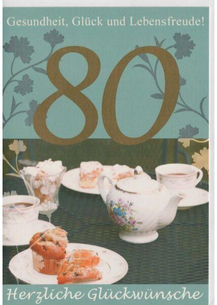 Glückwunschkarte 85 Jahre Gesundheit, Glück und Lebensfreude