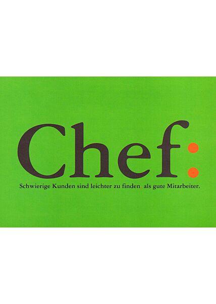 Lustige Postkarte Chef Spruch Kunden