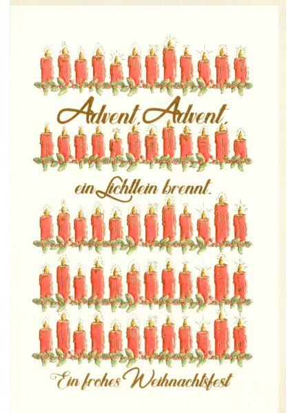 Weihnachtskarte premium Naturpapier Advent Advent