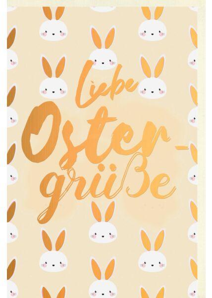Osterkarte Premium Osterhasen Liebe Oster Grüsse Folienprägung
