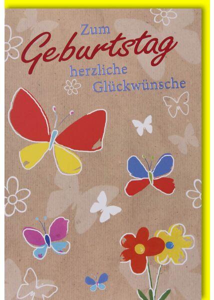 Glückwunschkarte Geburtstag Schmetterlinge
