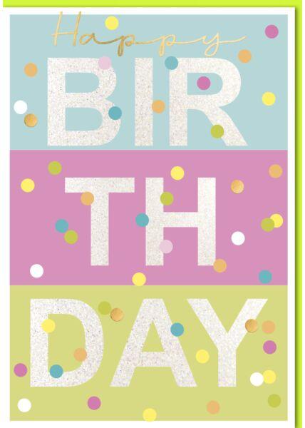 Geburtstagskarte - A4, Maxi, XXL farbige Felder