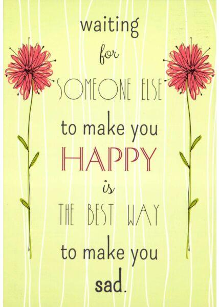 Postkarte englische Sprüche Happy - Sad