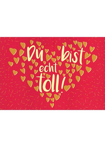 Postkarte Liebe Grüße Du bist echt toll!