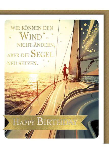 Glückwunschkarte Geburtstag Snapshot Wir können den Wind nicht ändern
