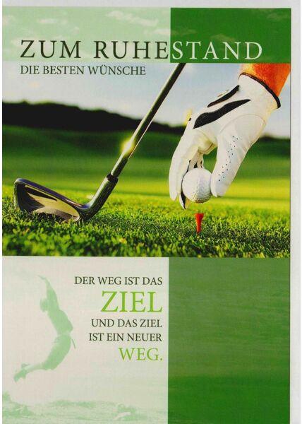 Karte Ruhestand für Golfspieler