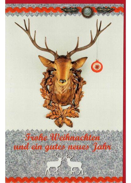 Weihnachtskarte Hirschgeweih