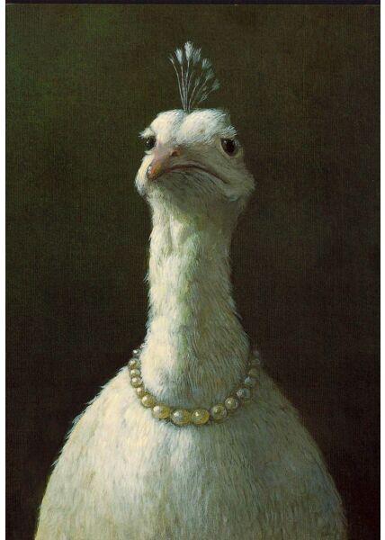 Lustige Postkarte Huhn Diva