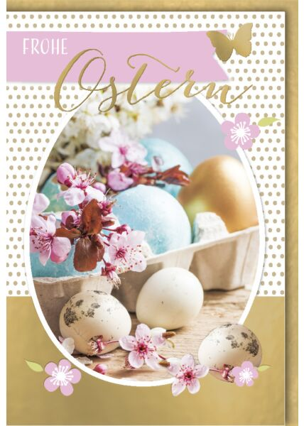 Osterkarte - Bildausschnitt in Ei-Form