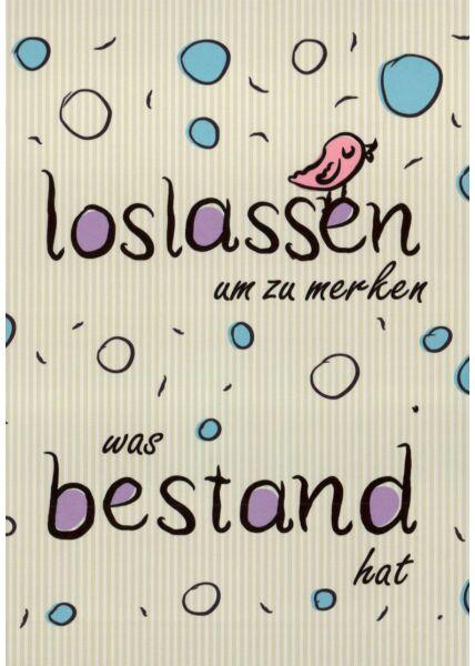 Postkarte Sprüche Loslassen um zu merken...