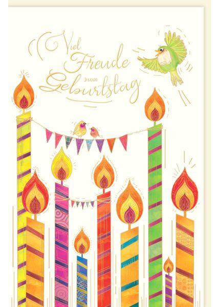 Glückwunschkarte Geburtstag premium Viel Freude
