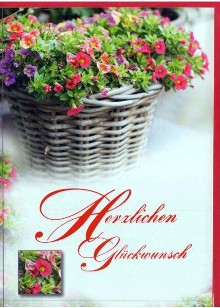 Geburtstagskarte Foto: Blumenkorb