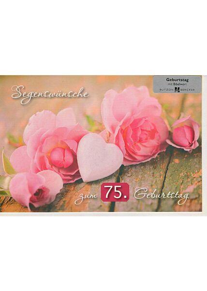 Geburtstagskarte zum 75 Geburtstag Segenswünsche