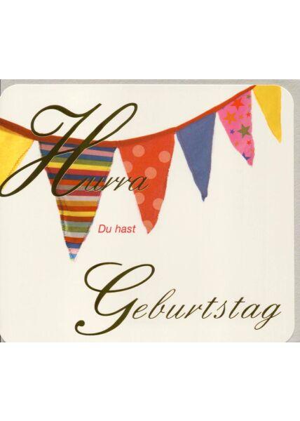 Glückwunschkarten Geburtstag Geburtstagskarte originell Girlande Hurra