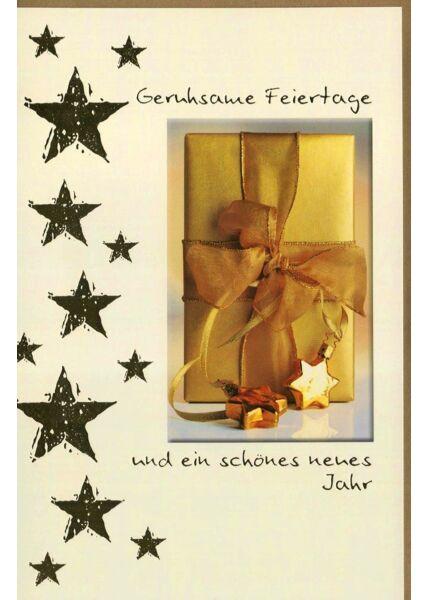 Weihnachtskarte Goldfolie Erholsame Feiertage