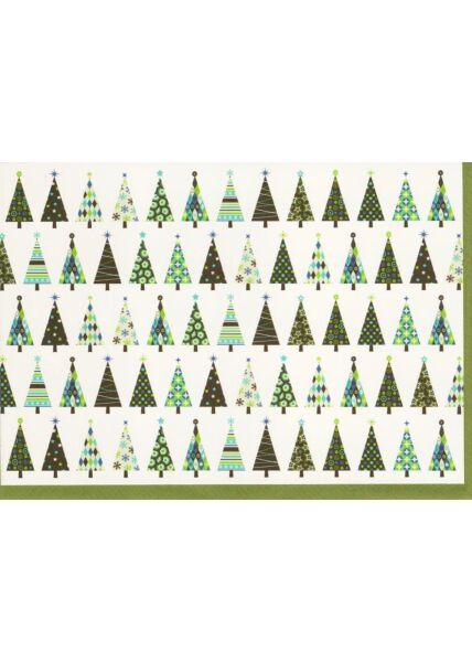 Design Weihnachtskarte Weihnachtsbäume originell