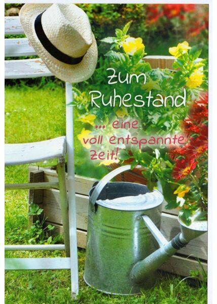 Karte Ruhestand Garten Gärtner Ruhe Entspannung