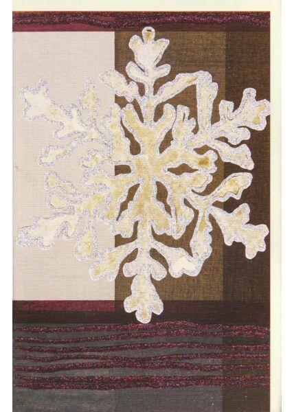 Hochwertige Weihnachtskarte Stern Edles Papier Glitzerlack