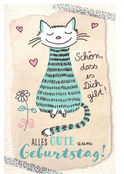 Karte Geburtstag Katze Schön, dass es Dich gibt