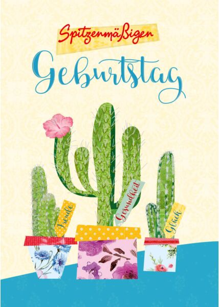 Geburtstagspostkarte Spitzenmäßigen Geburtstag