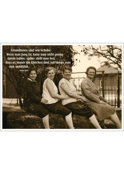 Postkarte Spruch lustig Freundinnen sind wie Schuhe