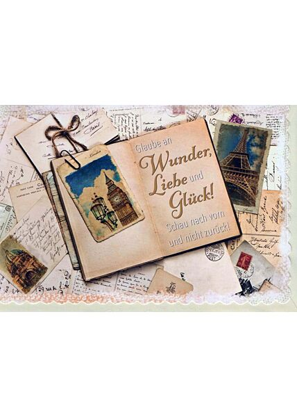 Karte Sprüche: alte Postkarten