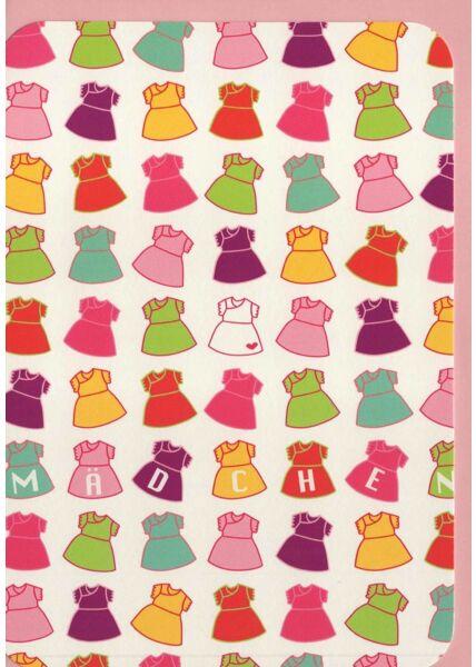 Glückwunschkarte Geburt Mädchen rosa