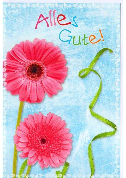 Alles Gute Grußkarte Blume