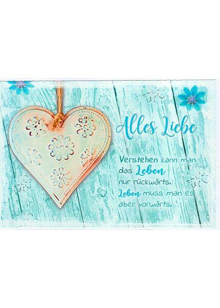 Alles Liebe Grußkarte Spruch Leben