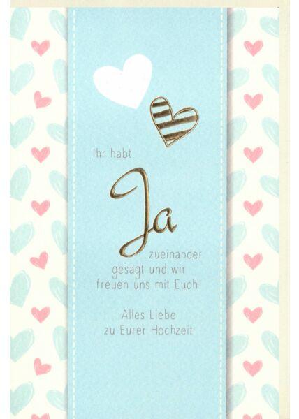 Glückwunsch Karte Hochzeit premium Ja