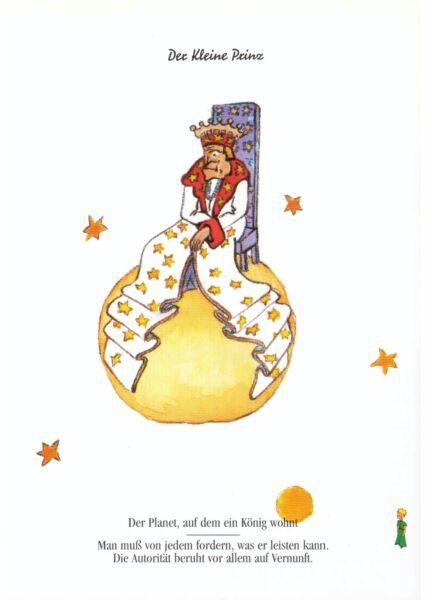Postkarte Der kleine Prinz Der Planet auf dem ein König...