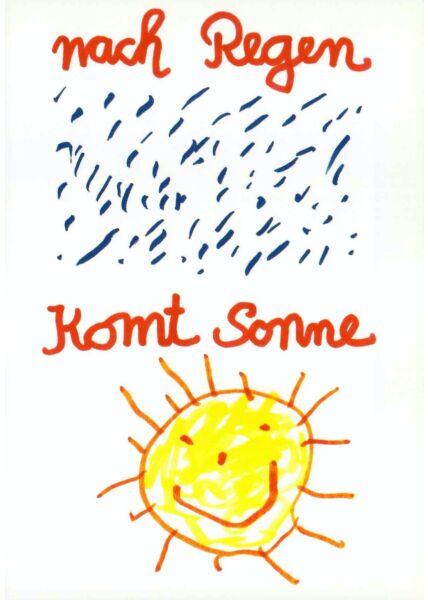 Postkarte Sprüche Nach Regen komt Sonne