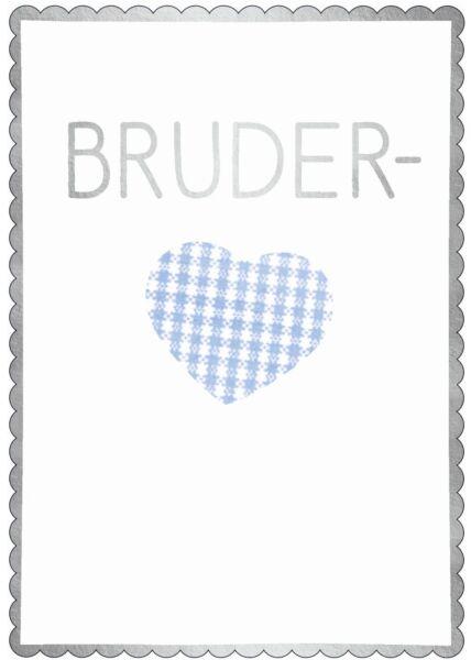 Postkarte Spruch Bruderherz
