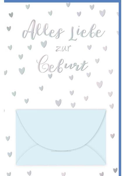 Glückwunschkarte Geburt Junge Geldkarte Alles Liebe zur Geburt