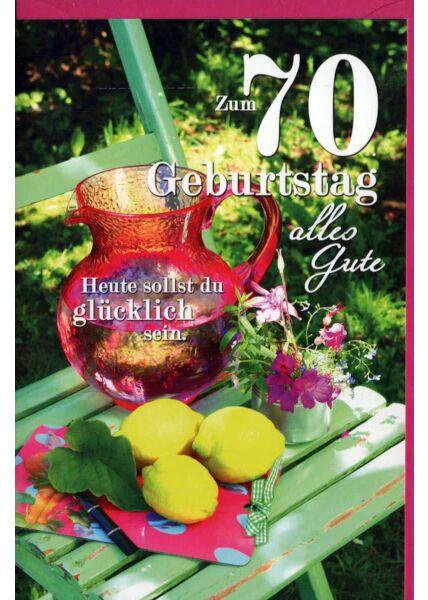 Geburtstagskarte 70 Gebrutstag Land Natur: Zitronen