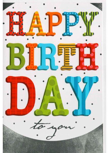 Glückwunschkarte liebevoll Happy Birthday to you