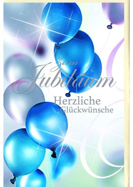 Jubiläumskarten Jubiläumskarten Silberfolie Luftballons