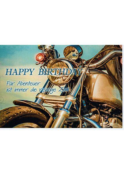 Geburtstagskarte Männer Motorrad Abenteuer