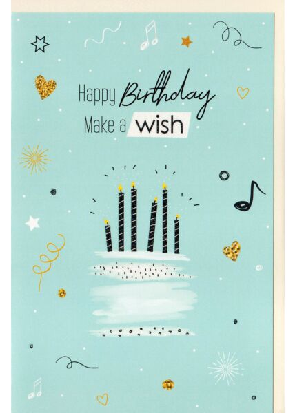 Geburtstagskarte Happy Birthday Make a wish