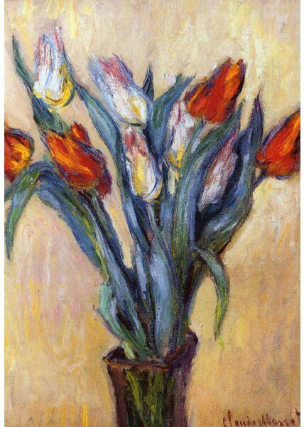 Kunstkarte Claude Monet - Tulpen
