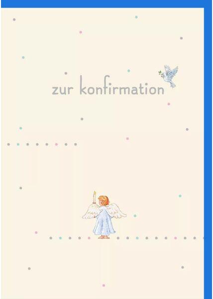 Glückwunschkarte zur Konfirmation Engel - Zur Konfirmation