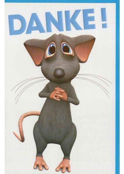 Grußkarte Danke: niedliche Maus