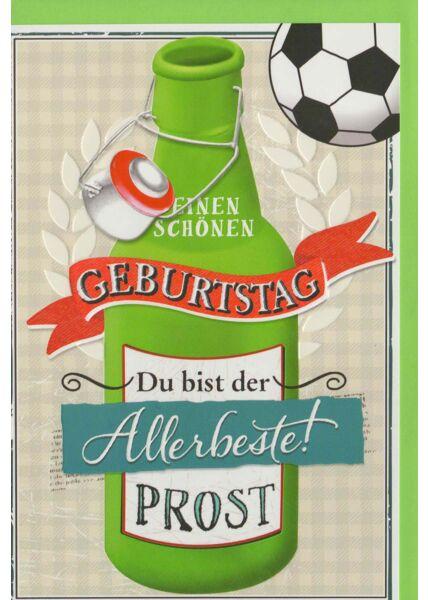 Geburtstagskarte für Mann Prost Fußball