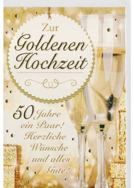 Glückwunschkarte goldene Hochzeit 50 Jahre ein Paar