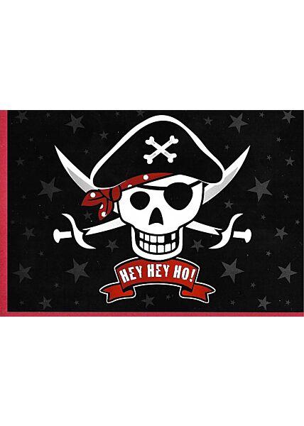 Kinder Geburtstagskarte Pirat Hey Hey Ho!