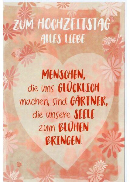 Grußkarte zum Hochzeitstag Spruch Liebe